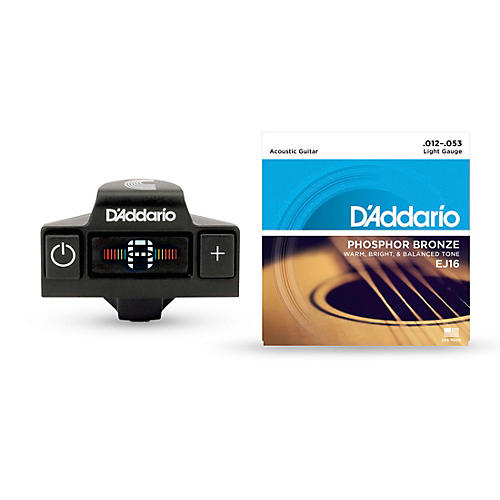 D'Addario CT-19 Acoustic Tuner EJ16 String Kit