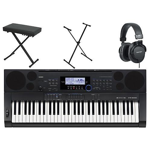 Casio CTK-6000 61-Key Portable Pianow/ Stand, Bench, & Headphones