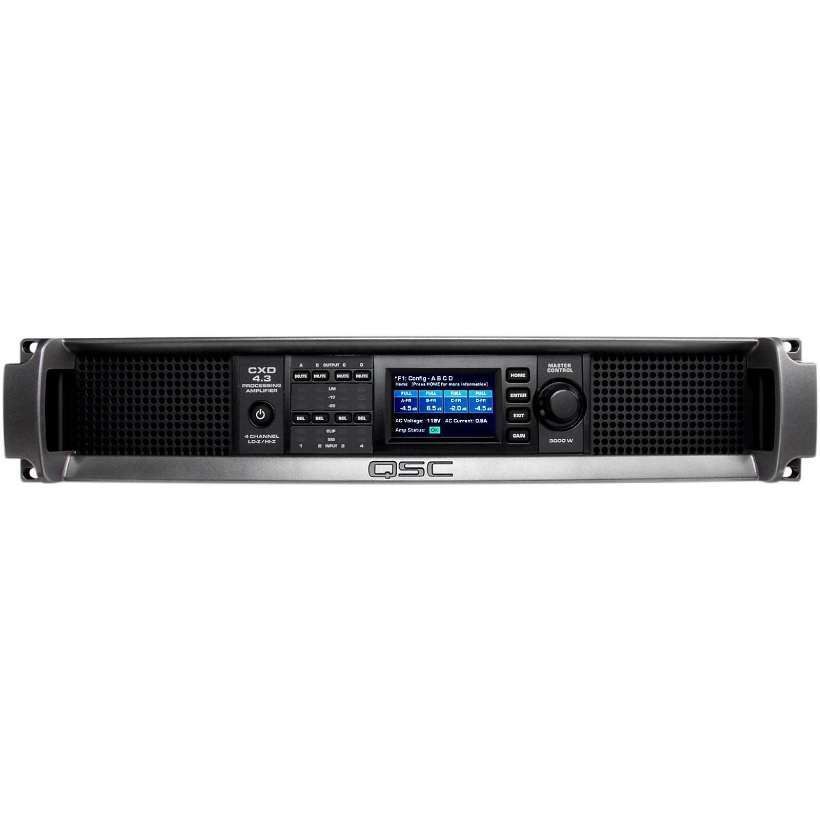QSC CXD4.3 Multi Channel DSP Amplifier