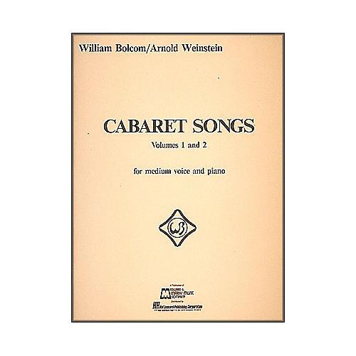 Hal Leonard Cabaret Songs Vol 1 & 2 for Medium Voice And Piano
