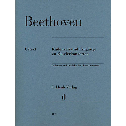 G. Henle Verlag Cadenzas and Lead-Ins for Piano Concertos Henle Music Softcover by Beethoven Edited by Klaus Schilde