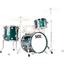 Cafe Racer Traditional Jazz 3-Piece Shell Pack with 18 in. Bass Drum British Racing Green Sparkle