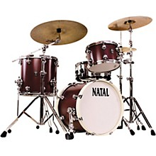 Cafe Racer Traditional Jazz 3-Piece Shell Pack with 18 in. Bass Drum Oxblood Red Hot Rod Suede