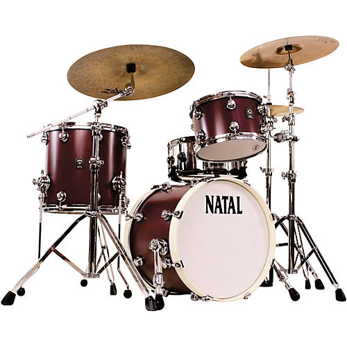 natal drums cafe racer traditional jazz 3 piece shell pack with 18 in bass drum oxblood red hot. Black Bedroom Furniture Sets. Home Design Ideas