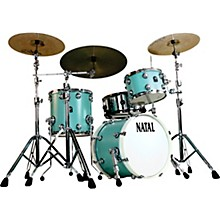 Cafe Racer Traditional Jazz 3-Piece Shell Pack with 18 in. Bass Drum Seafoam Green Hot Rod Suede