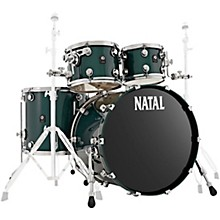 Cafe Racer US Fusion 22 4-Piece Shell Pack with 22 in. Bass Drum British Racing Green Sparkle