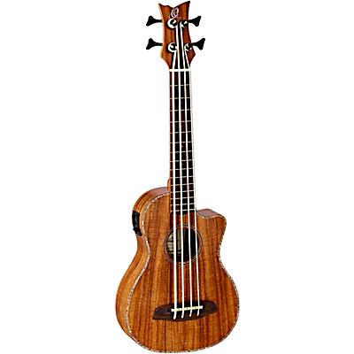 Ortega Caiman-GB-GB Lizard Series Acoustic-Electric Ukulele-Bass