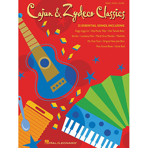 Hal Leonard Cajun and Zydeco Classics Piano/Vocal/Guitar Songbook