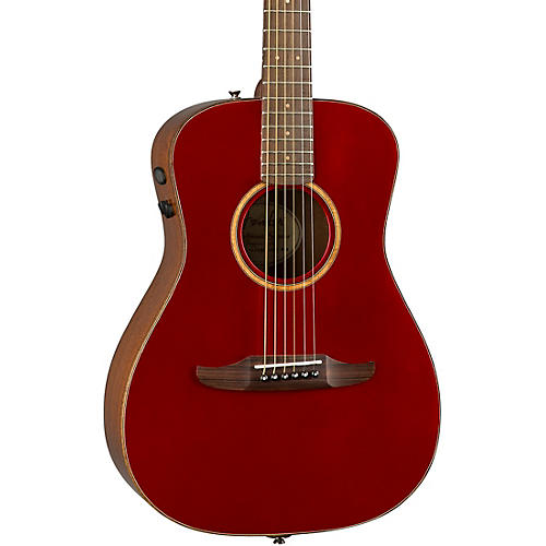 Fender California Malibu Classic Acoustic-Electric Guitar Condition 2 - Blemished Hot Rod Red Metallic 190839863355