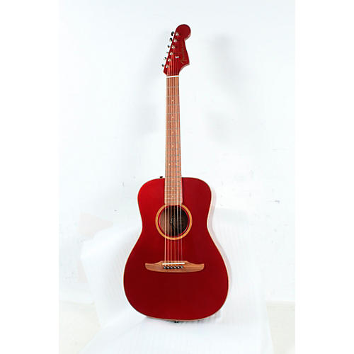 Fender California Malibu Classic Acoustic-Electric Guitar Condition 3 - Scratch and Dent Hot Rod Red Metallic 190839851963