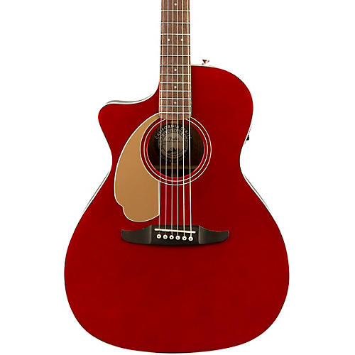 fender california newport player left handed acoustic electric guitar candy apple red musician. Black Bedroom Furniture Sets. Home Design Ideas