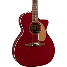 California Newporter Player Acoustic-Electric Guitar Candy Apple Red