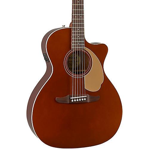 fender california newporter player acoustic electric guitar rustic copper musician 39 s friend. Black Bedroom Furniture Sets. Home Design Ideas