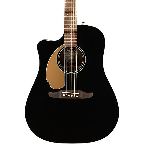 Fender California Redondo Player Left-Handed Acoustic-Electric Guitar Jetty Black