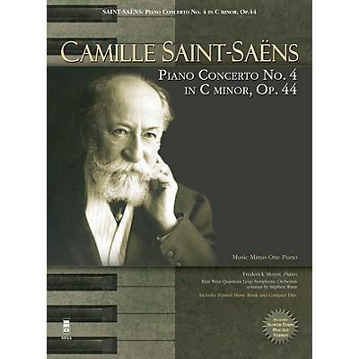 Music Minus One Camille Saint-Saens - Piano Concerto No. 4 in C Minor, Op. 44 Music Minus One Softcover with CD by Camille Saint-Saens