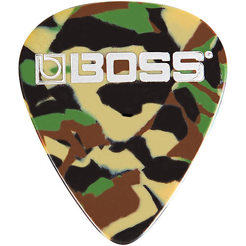 Boss Camo Celluloid Guitar Pick