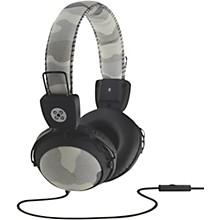 Camo Headphones w/In-Line Mic Gray