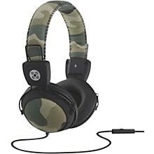 Camo Headphones w/In-Line Mic Green