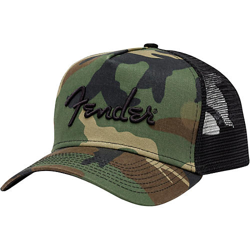 Fender Camouflage Snapback Hat One Size Fits All