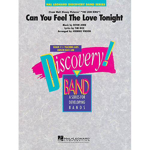 Hal Leonard Can You Feel the Love Tonight Concert Band Level 1.5 Arranged by Johnnie Vinson