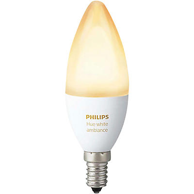 Philips Hue Candelabra White Ambiance 40W Equivalent E12 LED Light Bulb