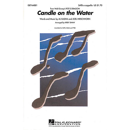 Hal Leonard Candle on the Water (from Pete's Dragon) TTBB A Cappella Arranged by Kirby Shaw