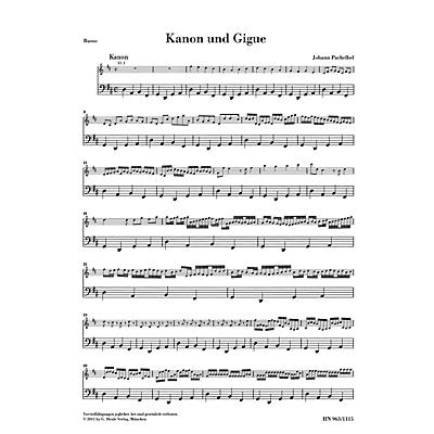 G. Henle Verlag Canon and Gigue for Three Violins and Basso Continuo in D Maj Henle Music by Pachelbel Edited Müllemann