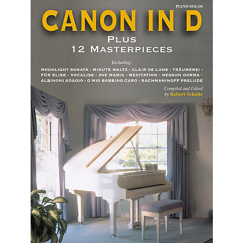 Alfred Canon in D Plus 12 Masterpieces for Piano (Book)