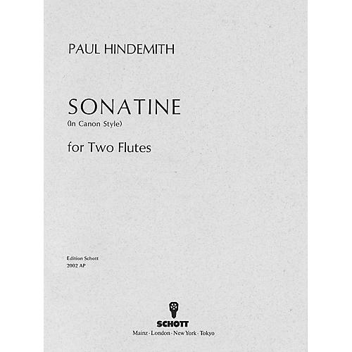 Schott Canonic Sonatina, Op. 31, No. 3 (1923) (Performance Score) Schott Series Composed by Paul Hindemith
