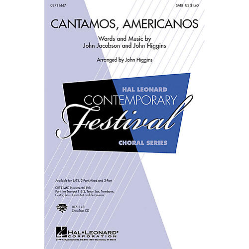 Hal Leonard Cantamos, Americanos (A Salute to the Music of Latin America) SATB  by John Jacobson, John Higgins