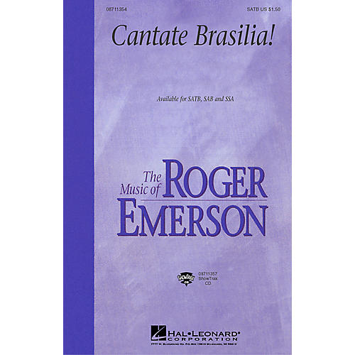 Hal Leonard Cantate Brasilia (SAB) SAB Composed by Roger Emerson