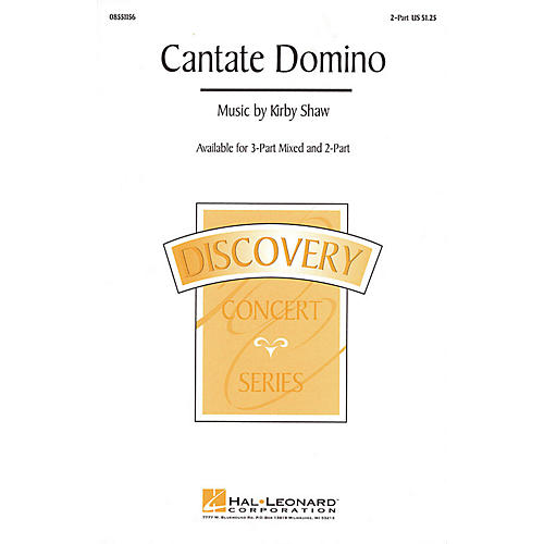 Hal Leonard Cantate Domino 3-Part Mixed Composed by Kirby Shaw