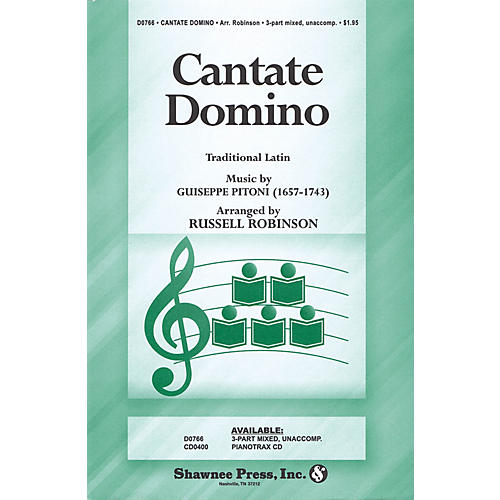 Shawnee Press Cantate Domino 3-Part Mixed arranged by Russell Robinson