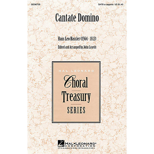 Hal Leonard Cantate Domino SATB a cappella arranged by John Leavitt