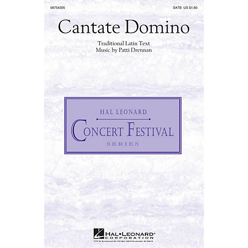 Hal Leonard Cantate Domino SATB composed by Patti Drennan