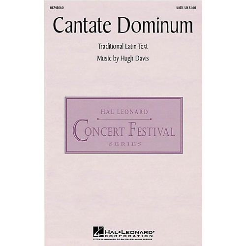 Hal Leonard Cantate Dominum SATB composed by Hugh Davis