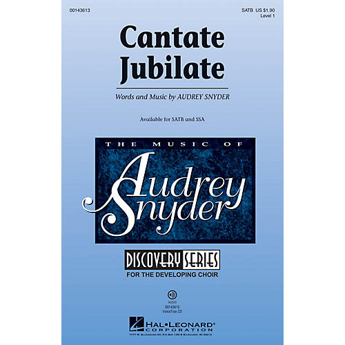 Hal Leonard Cantate Jubilate (Discovery Level 1) SATB composed by Audrey Snyder
