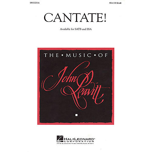 Hal Leonard Cantate! SSA composed by John Leavitt