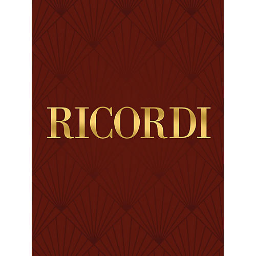 Ricordi Canti della lontanaza (Voice and Piano) Vocal Collection Series Composed by Gian-Carlo Menotti