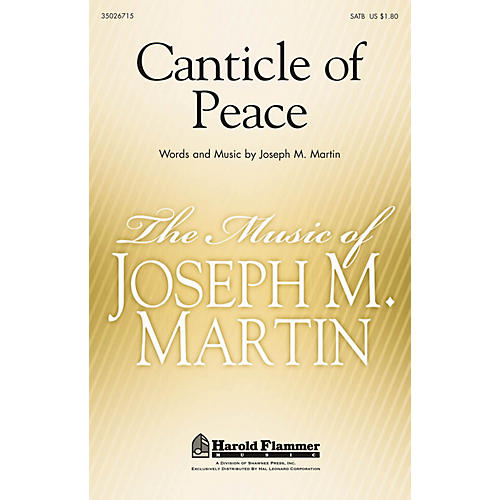 Shawnee Press Canticle of Peace SATB composed by Joseph Martin