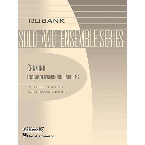 Rubank Publications Canzona (Flute Solo/Duet with Piano - Grade 2.5) Rubank Solo/Ensemble Sheet Series