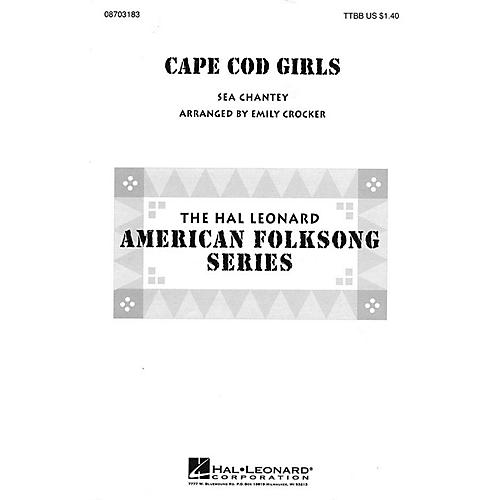 Hal Leonard Cape Cod Girls TTBB arranged by Emily Crocker