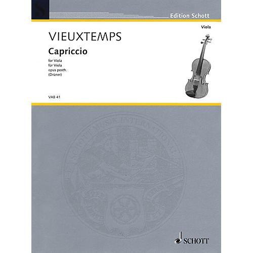 Schott Capriccio, Op. Posthumous (for Solo Viola) Schott Series
