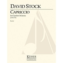 Lauren Keiser Music Publishing Capriccio for Small Orchestra - Full Score LKM Music Series by David Stock