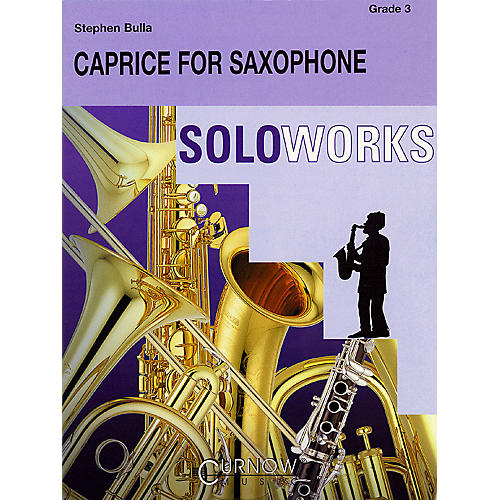 Curnow Music Caprice for Saxophone (with Concert Band) (Grade 3 - Score Only) Concert Band Level 3 by Stephen Bulla