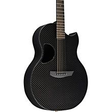 Carbon Sable Acoustic-Electric Guitar Basketweave Black Gloss Gold Hardware