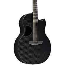 Carbon Sable Acoustic-Electric Guitar Basketweave Black Gloss Satin Pearl Hardware