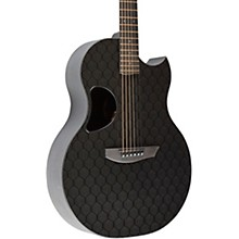 Carbon Sable Acoustic-Electric Guitar Honeycomb Black Gloss Gold Hardware