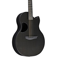 Carbon Sable Acoustic-Electric Guitar Standard Black Gloss Satin Pearl Hardware