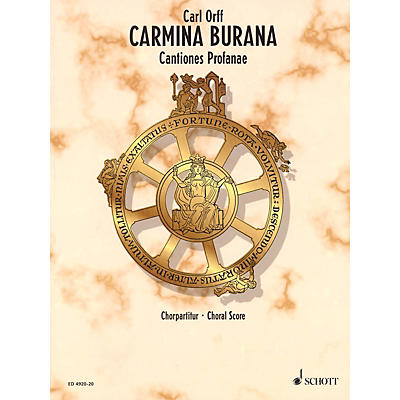 Schott Carmina Burana (Choral Score) Composed by Carl Orff